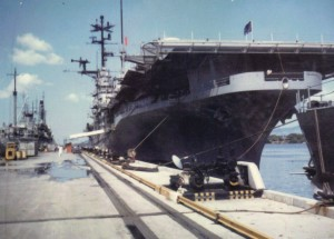 USS Princeton tied up at Pearl 1969.