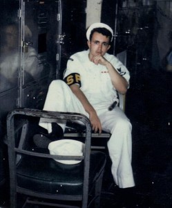 Getting ready for shore Patrol. USS Princeton, Pearl Habour, 1969.